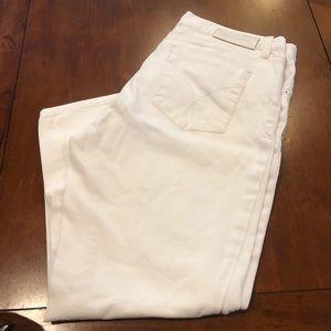 Calvin Klein White Cropped Boyfriend Jeans
